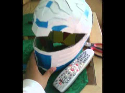 White Ranger Pepakura Helmet
