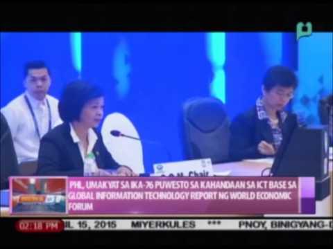 PHL, umakyat sa ika-76 pwesto sa kahandaan sa ICT base sa GIT Report ng WEF