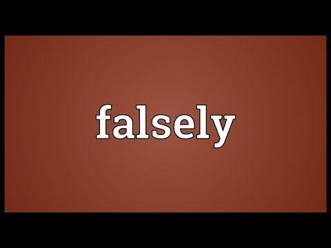 Header of falsely