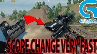 SCOPE CHANGE FAST Logitech Gaming Mouse  | PUBG MOBILE | TENCENT GAMING BUDDY