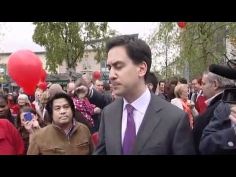 Ed Miliband is hit by a EGG