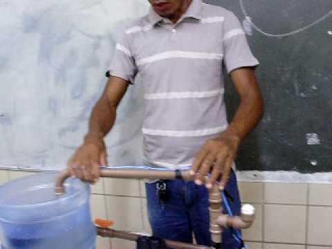 Professor Valdelino/instalação de bomba