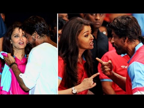 Aishwarya Rai Bachchan & Shahrukh Khan CONNECT at Pro Kabbadi League 2014