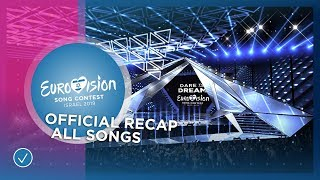 OFFICIAL RECAP: All 41 songs of the 2019 Eurovision Song Contest