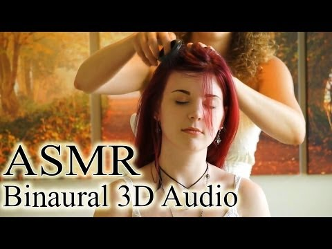 Binaural ASMR Scalp Massage, Hair Brushing & Whisper Ear to Ear For Sleep & Relaxation
