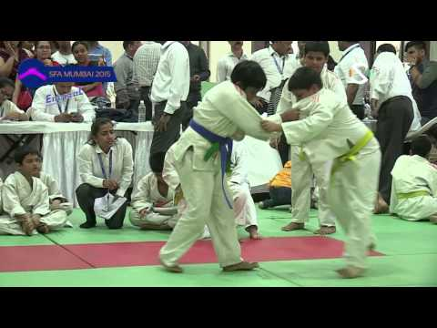 SFA Mumbai 2015 | Judo | Patil Devashish Vs Akshat Prajapati | Boys |  U-10 | -50 Kg | Final