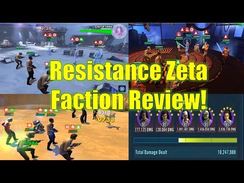 Star Wars Galaxy of Heroes: Resistance Zeta Faction Review (Amazing Arena and AAT Raid Team!)