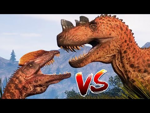 The Isle - EPIC UPDATE, Ceratosaurus VS Dilophosaurus - Gameplay
