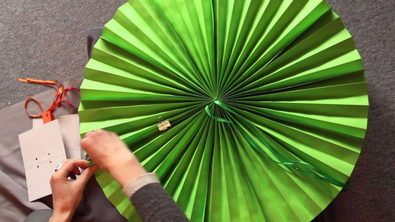 Как сделать круглый веер для декора