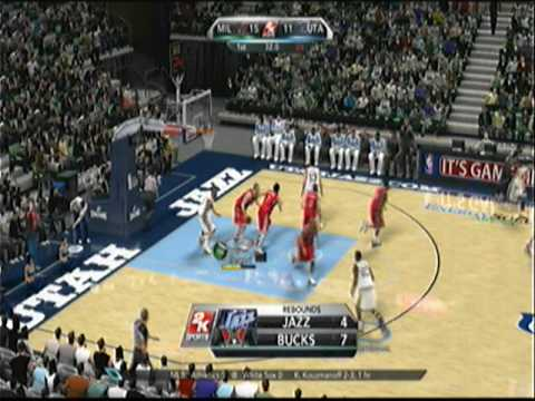 NBA 2k10 - Michael Redd Drops 52 on Jazz - 1st Half Video