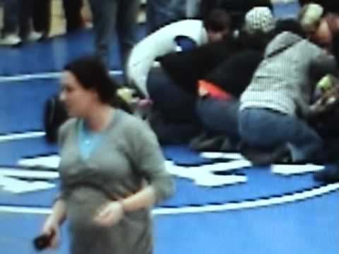 Crazy Pregnant Woman at North Middle school