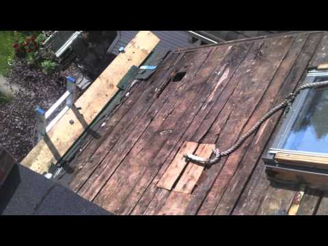 How Bad Is Your Roof Sheathing Fixer On The Roof Youtube