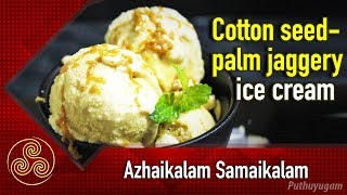 Homemade Cotton Seed Milk – Palm Jaggery Flavoured Ice-Cream Recipe
