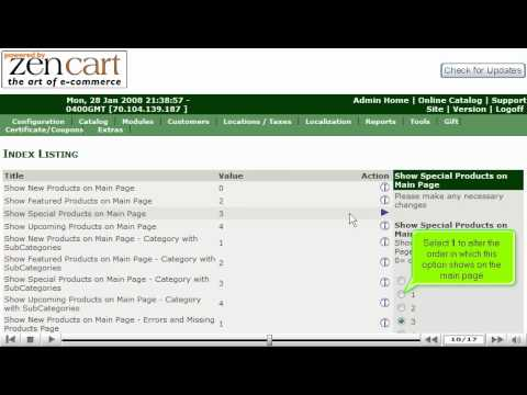 0 Configuring your home page in ZenCart by VodaHost web hosting