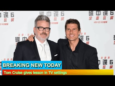 Breaking News - Tom Cruise gives lesson in TV settings