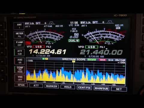 Icom 7800 and UltraBeam playing on CQ WW DX Contest 2012