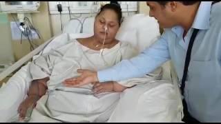 """أول فيديو للمصرية """"إيمان"""" تتحرك وتتحدث في المستشفى بعد خسارة نصف وزنها"""