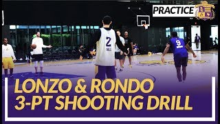 Lakers Shootaround: Lonzo Ball & Rajon Rondo Do Some 3-pt Shooting Drills Before Tonights Game