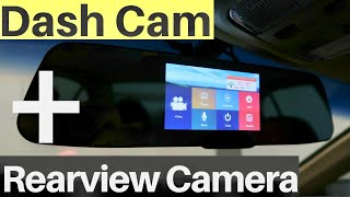 """Jeemak Backup Camera 4.3"""" Touch Screen Mirror Dash Cam REVIEW"""