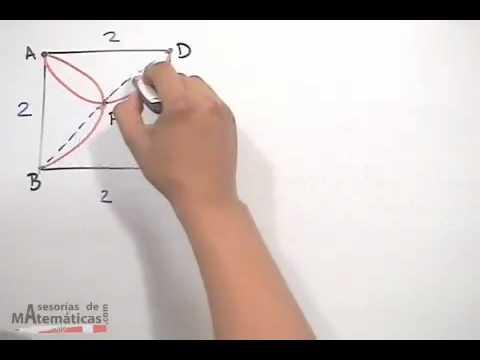 Encontrar área sombreada entre 2 semicirculos - parte 1