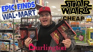 EP 201 - TOY HUNTING AT WALMART/BURLINGTON FOR CHEAP STAR WARS ACTION FIGURES! EPIC FINDS!