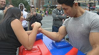 Woman VS Men in NYC | Arm Wrestling
