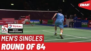 R64 | MS | Mark CALJOUW (NED) vs. Kantaphon WANGCHAROEN (THA) [12] | BWF 2019