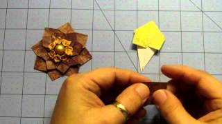 Handmade Flowers Mini Series V9; Origami Box Flower