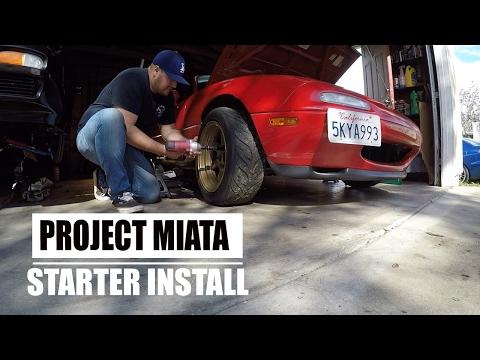 HOW TO INSTALL STARTER MAZDA MIATA