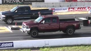 Diesel Pick-up Trucks Drag Racing 1/4 Mile
