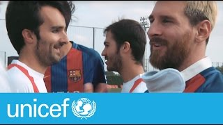 FC Barcelona vs the Spanish Paralympic Blind Football Team | #TeamUNICEF