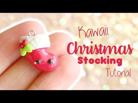 Kawaii Christmas Stocking│Polymer Clay Tutorial