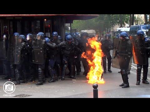 Manifestants, police et service d'ordre - Loi Travail - Paris 17/05/16