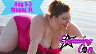 CammingCon Miami FL - Sports Bra should be Tank Top on BBW Adult Star Platinum Puzzy