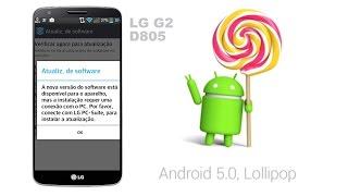 Atualização LG G2 D805 Android lollipop