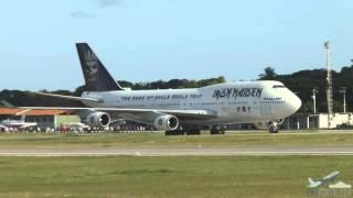 Pouso Boeing 747 TF-AAK Air Atlanta Icelandic (Iron Maiden/ Ed Force One) em Fortaleza 23/03/2016