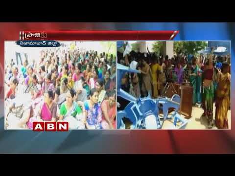 Farmers stage protest , seek water from Sri Ram Project | Nizamabad | ABN Telugu