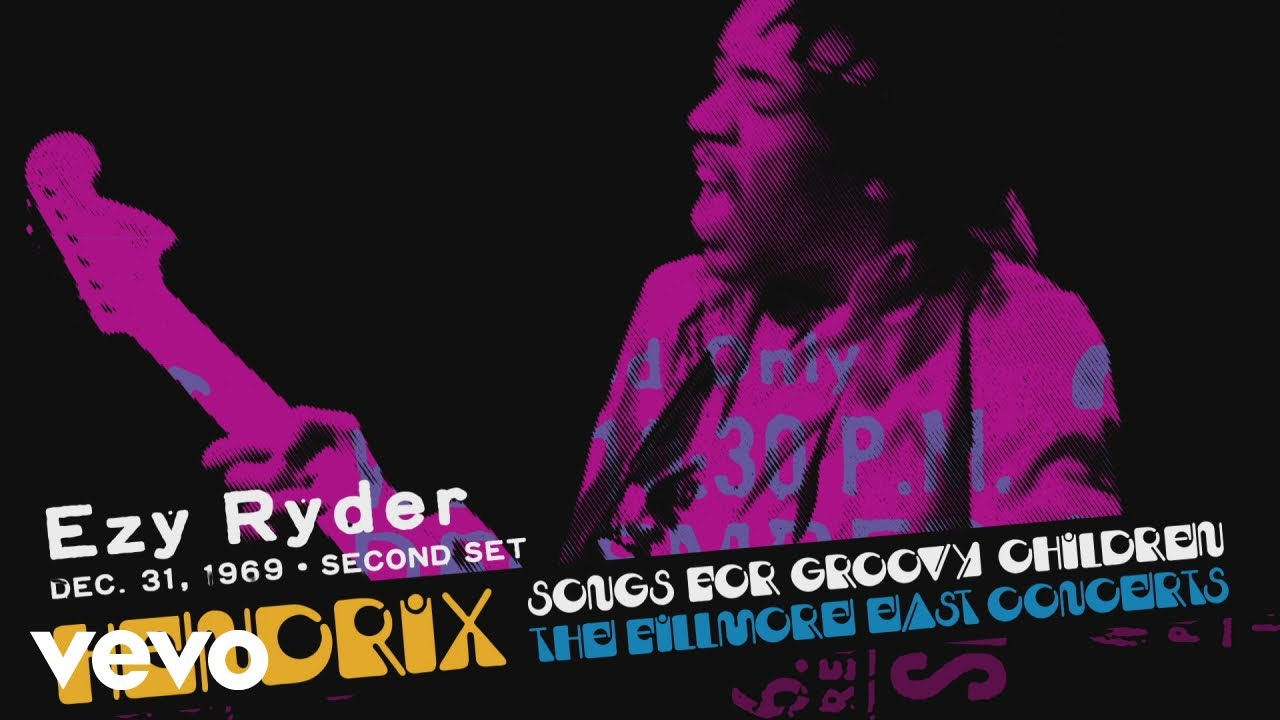 """Jimi Hendrix - """"Ezy Ryder (12/31/69 2nd Set)""""の試聴音源を公開 新譜「Songs For Groovy Children: The Fillmore East Concerts」2019年11月22日発売予定 thm Music info Clip"""