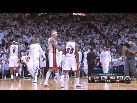 Norris Cole drive and dunk Heat-Bulls Game 5