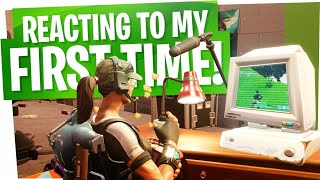 Reacting to my FIRST TIME playing Fortnite - WOW... I sucked....