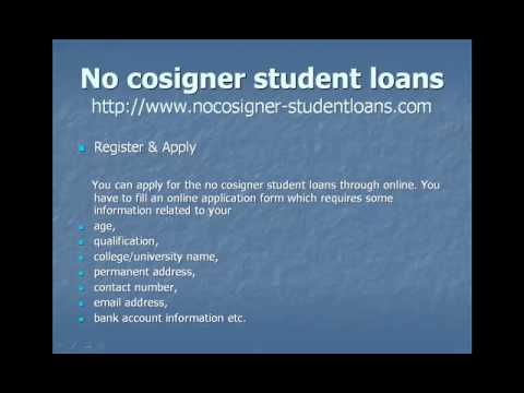 How to apply no cosigner student loan