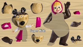 Masha and the Bear Wooden Toys New Toys Videos for Children Children Songs