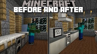 Minecraft KITCHEN MOD / HELPING MARK OUR FRIENDLY ZOMBIE IN THE KITCHEN !! Minecraft