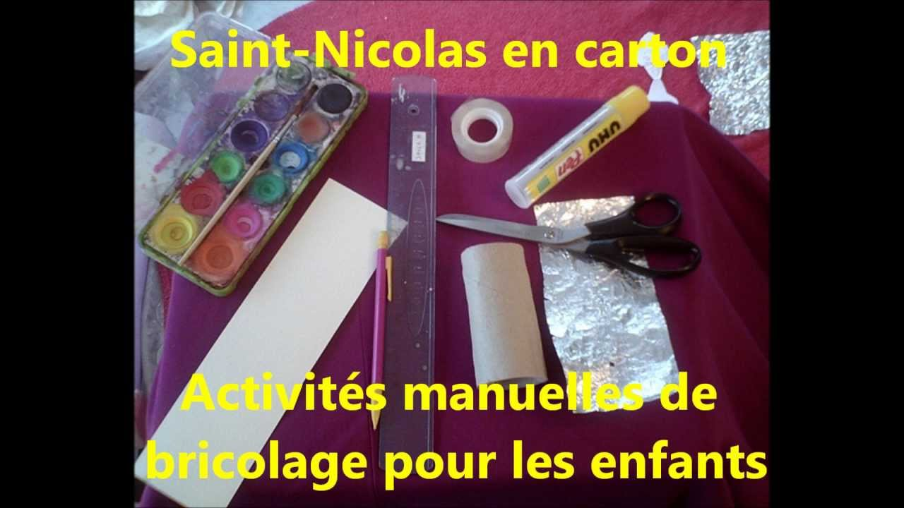 saint nicolas en carton activit s manuelles de bricolage pour les enfants youtube. Black Bedroom Furniture Sets. Home Design Ideas