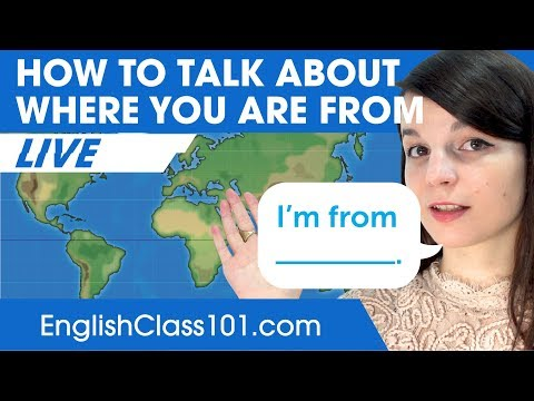 How to Talk About Where You Are From in English | Basic English Grammar