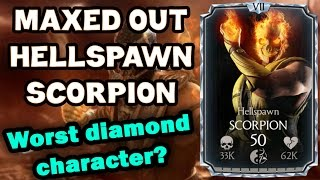 Hellspawn Scorpion MAXED OUT in MKX Mobile 1.9. All stats and special moves!
