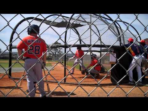 Astros Spring Training Minor League Live Batting Practice: Jonathan Singleton - Round Three