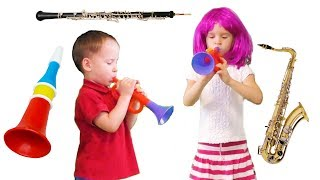 Musical Instruments Sounds for Kids – Saxophone and Pipe | MusicMakers - From Baby Teacher