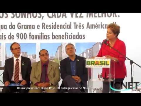 Dilma Rousseff entrega moradias em Bauru