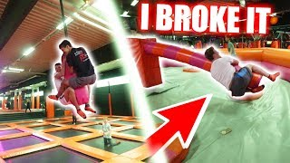 BREAKING ALL TRAMPOLINE PARK RULES !